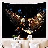 WALLhang Wanddekoration Decke 3D Flying Eagle Wandtuch Hängen Tuch Hintergrund Hängende Malerei Tapisserie Wand Dekorative Decke, NH-343, 150 * 130 (cm)