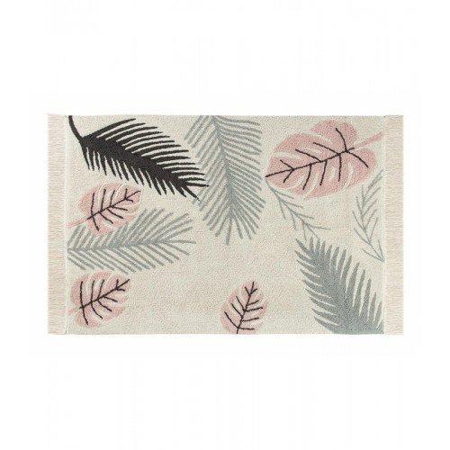 Lorena Canals Teppich Tropical waschbar, Baumwolle, pink, 140x 200x 30cm - Outlet Wand Decken