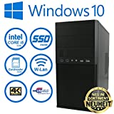 Master-PC Intel i5-7500, 8GB DDR4, 128GB SSD + 2TB HDD, WLAN, Cardreader, Windows 10 Pro