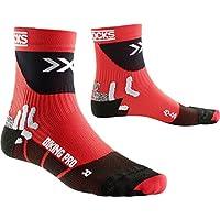 X-Socks Biking Pro Calze, Uomo, Rosso/Nero, 42/44