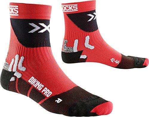 X-Socks Herren Socken BIKING PRO, Red/Black, 42/44, X020370