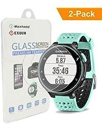 maxhood (2-Pack) Garmin Forerunner 235225Protector de pantalla de cristal templado, Real 0,26mm 2.5d Round Edge Premium reloj vidrio templado Protector de pantalla para Garmin 235225