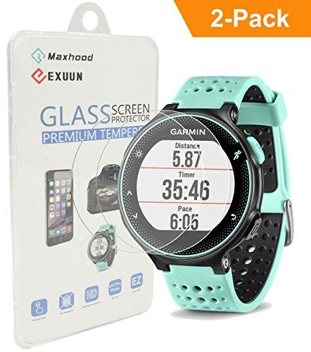 maxhood-2-pack-garmin-forerunner-235-225-630-620-230-220-tempered-glass-screen-protector-real-026mm-