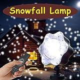 LED Projektionslampe Schneefall-Lichteffekt Weihnachten Dekoration, Airlab LED Projektor mit Fernbedienung Stimmungsbeleuchtung für Karneval Weihnachten Innen & Außen