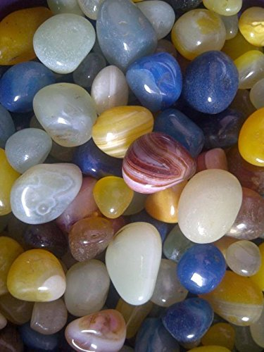 Frabjous Pebbles Glossy Home Decorative Vase Fillers Stone, 1 KG Decorative Itme