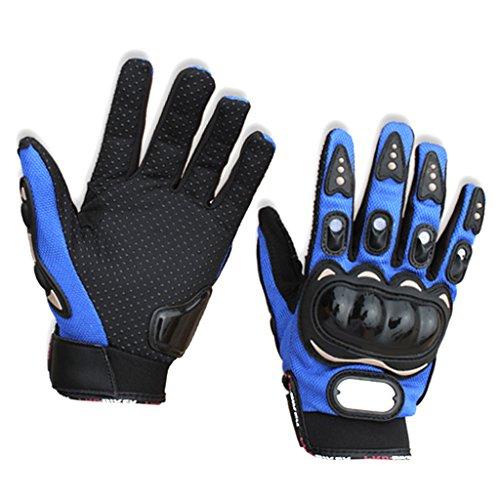 Winter Motorradhandschuhe Biker Lederhandschuhe Wasserdicht #1 Blau XXL