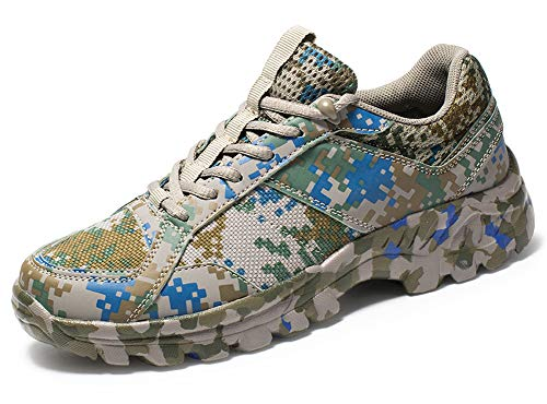 ChayChax Herren Trekking Kletterschuhe rutschfest Militär Camouflage Outdoor Sports Laufen Turnschuhe Running Sneakers für Wandern Spazieren (Turnschuhe Support-komfort Arch)