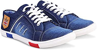 Zovim Men's Blue Denim Sneaker - 8