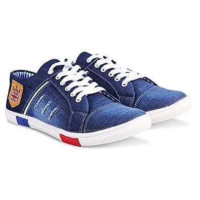 Zovim Men's Blue Denim Sneakers (6)