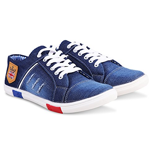 Krafter Men Denim Jeans Sneakers Casual Shoes