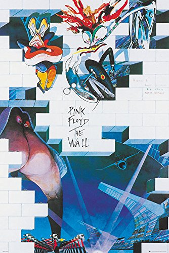 Pink Floyd The Wall film poster con accessori, Ü-Poster der Grösse 61x91,5 cm, 61 x 91,5 cm