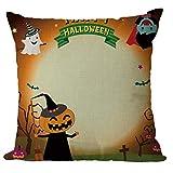 GongzhuMM Taie d'oreiller 45x45 Joyeux Halloween Housse De Coussin Carré Halloween Home Decor Bureau Voiture Canapé Taie d'oreiller