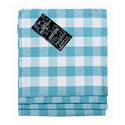 Homescapes Servietten Set Block Check 4tlg blau weiß kariert 45 x 45 cm aus 100{aba89ecc35edf1a98e24083c87db182c002d298b6d1e3a4c116b40a9902ac630} reiner Baumwolle, Stoffservietten blau