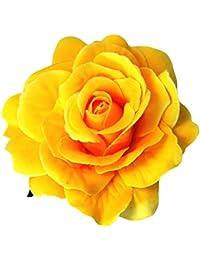 Gas hacha Inc rosa pelo Clip y broche color amarillo
