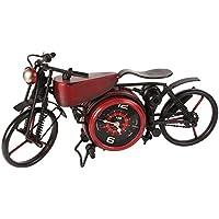 MPH muy grande metal tipo vintage rojo motocicleta Reloj de cuarzo