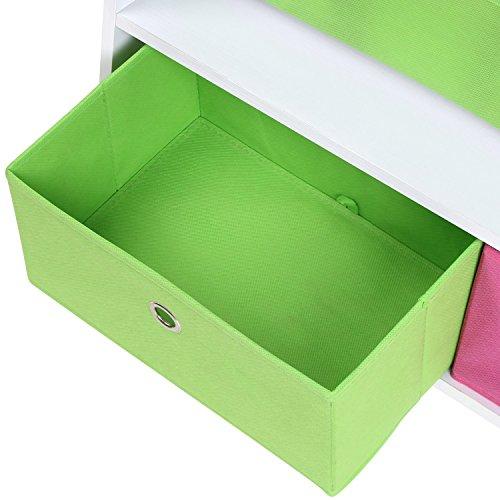 kinder b cherregal mit schubladen von homfa g nstig und gut. Black Bedroom Furniture Sets. Home Design Ideas