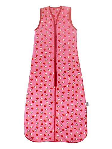 Schlummersack Ganzjahres Kinderschlafsack in rosa für Mädchen gefüttert 2.5 Tog - Äpfel - 130 cm / 3-6 Jahre
