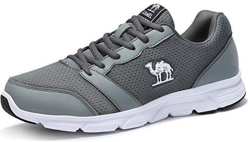Camel Calzado Deportivo para Hombres Deportivas Ligeras Cómodas Zapatillas Deportivas de Moda, Zapatos de Malla para Caminar, Senderismo, Gimnasia, Ciclismo y Ejercicios al Aire Libre