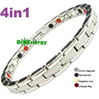4in1 germanium Magnet Energy Power Bracelet Health Bio Armband Cuff Arthritis lady's 223