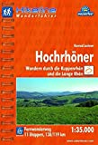 Hikeline Fernwanderweg Hochrhöner (180 km), Wandern durch die Kuppenrhön und die Lange Rhön, 1 : 35 000, wasserfest und reißfest, GPS zum Download - Konrad Lechner