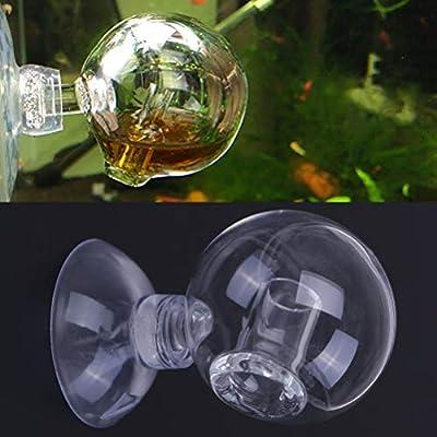AOWA Lot de 2 détecteurs de CO2 pour Aquarium Réacteur de Co2 Carbone Dioxyde de Carbone Verre