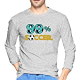 Men's Long Sleeve T-Shirts Pattern Ball Goalie Football Players Goalie Rugby 99% Gift Perfect for Birthday,Christmas Or Gift for Commemoration Day