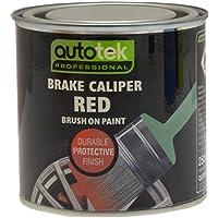 Autotek ATOOCALR250 Tin Brake Caliper Brush-On Paint, 250 ml, Red - ukpricecomparsion.eu