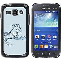 WonderWall Carta Da Parati Immagine Custodia Rigida Protezione Cover Case Per Samsung Galaxy Ace 3 GT-S7270 GT-S7275 GT-S7272 - cavallo mustang destriero acqua blu vetro