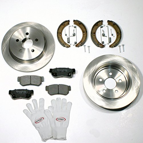 Autoparts-Online Set 60004896 Bremsscheiben Bremsen + Beläge + Bremsbacken + Zubehör für Hinten/für die Hinterachse