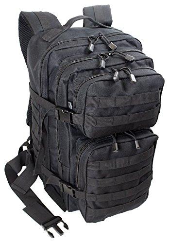 EXTREM Großer Rucksack 50 Liter Backpack Outdoor Robuster Multifunktions Military Rucksack für Backpacker   Schwarz (4076)