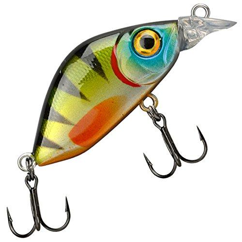 Trout Master Flat Mini Crank 30 3cm 2g - Wobbler zum Spinnfischen, Crankbait, Kunstköder für Barsch & Forelle, Forellenköder, Farbe:Green Perch