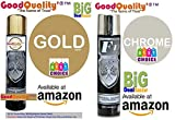 Generic Set of 2pc f1 Gold & Silver Chrome Paint aerosol Spray