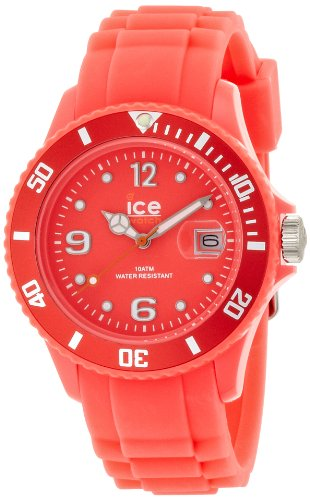 Ice-Watch Unisex Quartz Watch with Red Dial Analogue Display and Red Silicone Strap SS.NRD.U.S.12