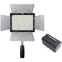 Yongnuo YN160 III LED Luz de vídeo con 192 células luminosas 5500K con WINGONEER NP-F770 Batería y WINGONEER cargador