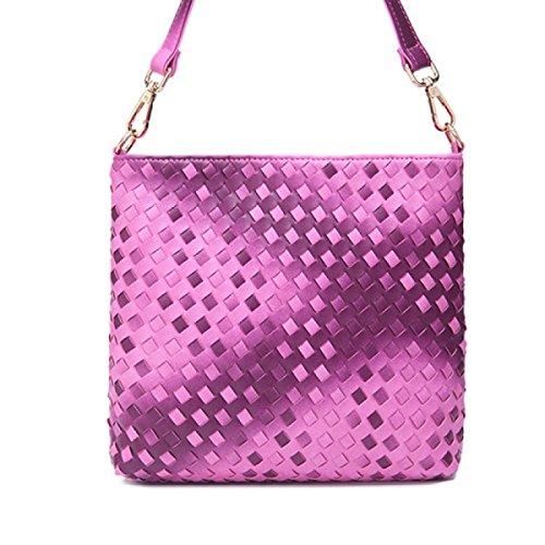 Frizione Pacchetto Diagonale Spalla Caramella Color Sacchetto Signora,Black purple