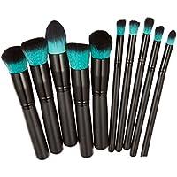 Youkara 10 Piezas Set de Brochas de Maquillaje Cosmético Pincel de Función de Labios Herramientas de Maquillaje de Profesional DIY