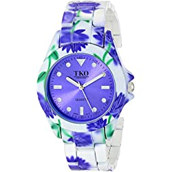 TKO ORLOGI Women's TK642BL Floral Watch