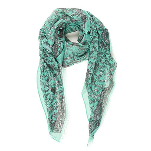 Pañuelo Fulard Bufanda Cuello 100% Viscosa de Mujer Estampado y Diseño Español (NF04-10)