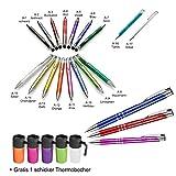 50 Metall - Kugelschreiber ASCOT mit Lasergravur (alle mit gleicher Gravur) + Thermobecher