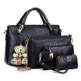 les femmes sac haut de la page gérer sacoche sacs à main sac à l'épaule fourre - tout sac sac ensemble 4 pièces de sacs