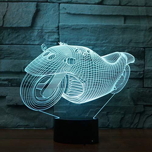 Wangshengchao Motocicleta 3D LED Lámpara de Control Remoto...