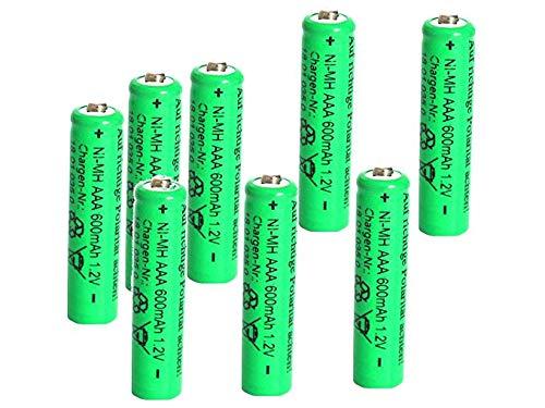 Solar-Akku leistungsstarke wiederaufladbare Batterien NiMH AAA (Akku AAA - 8 Stück)