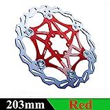 XQxiqi689sy Sport 160/180/203mm MTB Road Bike Metallo Galleggiante Galleggiante Disco Freno rotori Parti di Biciclette