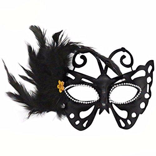ParttYMask Maskerade,Halloween männliche Maske weibliche Kinder cos erwachsenes Make-up Abschlussball sexy halbes Gesicht S Masquerade