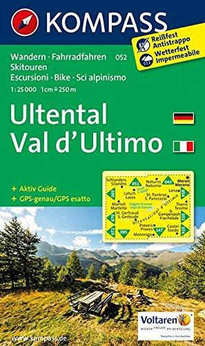 KOMPASS Wanderkarte Ultental, Val d\'Ultimo: Wanderkarte mit Aktiv Guide, Radrouten und Skitouren. GPS-genau. 1:25000: Wandelkaart 1:25 000 (KOMPASS-Wanderkarten, Band 52)