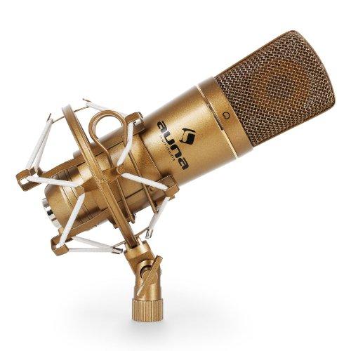 auna CM600 microfono a condensatore (capsula elettrete di 22mm, cavo USB, rete microfono, compatibile con Windows e Mac, filetto adattatore da 3/8'' a 5/8'') - bronzo