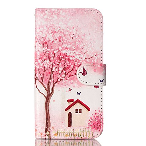 Meet de pour Apple iphone 5C Ultra Slim Flexible Transparent Soft Case / Housse / Portefeuille / Cover Étui / Housse étui - arbre blanc maison de fée