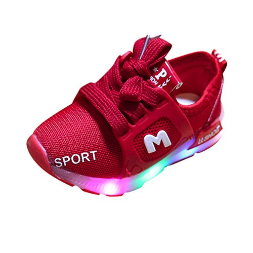 new product 37d50 7269b Zapatos de iluminación para bebés, Toddler Baby GIRS Led Light Shoes Niños  Soft