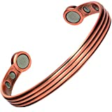 MPS Copper Bronze Tone super Strength Magnetic Bangle / Bracelet - 22,000 gauss in total - Extra Large - For wrist size 19 to 22 cm