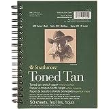 """Spirale di Strathmore tonica Sketch Book 5,5 """"X8.5""""-Tan 50 fogli"""